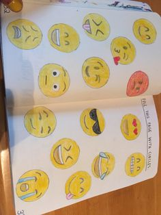 Fill this page with circles ... Emojis...Wreck this journal
