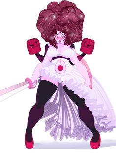 Garnet And Rose Quartz Fusion - Steven Universe by WaiiTako