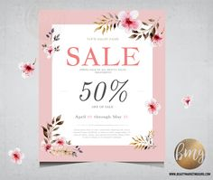 The 12 best salon spa promotional material images on pinterest sale leaflet design by beauty marketing guru for salon or boutique spring sale fandeluxe Image collections
