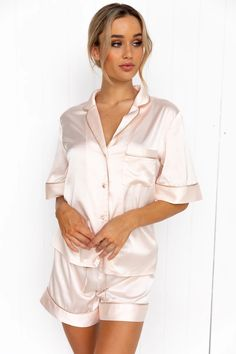 All – Modern Romantique Cami Set, French Seam, Pj Sets, Pajamas Women, Feminine Style, Satin Fabric, High Waisted Shorts, Pyjamas, Half Sleeves
