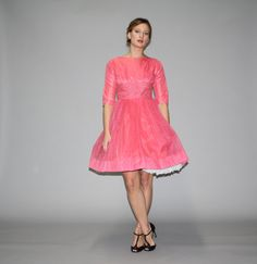 Vintage 1950s Pink Cupcake Prom Dress Vintage by aiseirigh