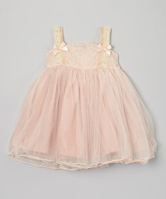 This Sweet Charlotte Light Pink Lace Chiffon Dress - Infant, Toddler & Girls by Sweet Charlotte is perfect! #zulilyfinds