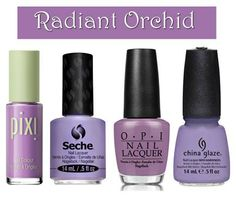 2014 color of the year - #RoyalOrchid by #Pantone - shown in #nailpolish - we love!