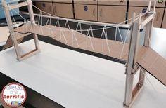 Can you build a suspension bridge? Great STEM Challenge! #STEM #Engineering #teacherspayteachers
