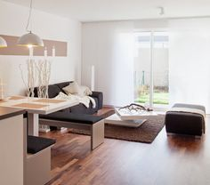 Wohnzimmer Vista L - Wolfskamphof 34a in Neuss-, www.vista-reihenhaus.de