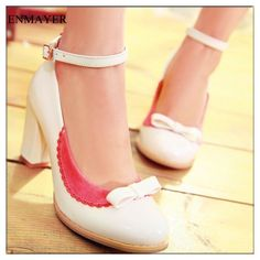 911NNZJ Big Size 34 43 Free Shipping cute ladies low heel patent leather shoes, casual shoes, student-in Pumps from Shoes on Aliexpress.com