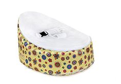 Totlings Snugglish Blossoms Velvet Top Bean Bag, Gold with White by Totlings® at the Kids Bean Bag Chairs