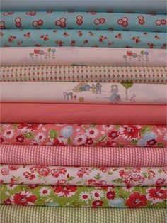 Cute fabrics in bundles...