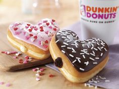 Cupid's Choice & Brownie Batter Donuts - available at participating U.S. DDs in February!