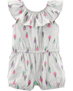 f844587e1 Baby Girl Ice Cream Romper   OshKosh.com Baby Clothes Online Shopping, Cute  Baby