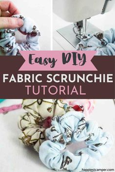Seriously, this is one of the best and easiest DIY sewing craft to do at home! The materials are basically free if you have scraps of clothing lying around and some elastic. Let me show you how fun it is to make a scrunchie! Diy Hair Scrunchies, How To Make Scrunchies, Sewing Crafts, Sewing Projects, Sew Gifts, Pin Tool, Minky Fabric, Crafts To Do, Needle And Thread
