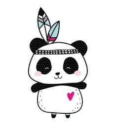 Embroidery file Boho Panda Indians - Finally there is it! The cool Boho Panda as an embroidery file. The Boho Indian is included as a do - Tier Wallpaper, Animal Wallpaper, Panda Love, Cute Panda, Panda Wallpapers, Cute Wallpapers, Animal Drawings, Cute Drawings, Scrapbooking Image
