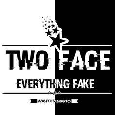 Two Face 👼👿 #2face #design #designbadges #designvintage #everythingfake #exclusive #likeangel #likedevil #likeangellikedevil #poster #premiumdesign #twoface #vintage