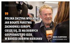 Daniel Olbrychski popiera Platformę.