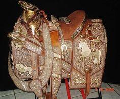 Silla de montar piteada. Artesania Mexicana