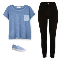 """""""Untitled #540"""" by danieledepaula ❤ liked on Polyvore featuring MANGO and Vans"""