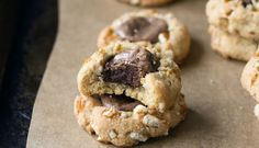 Peanut Butter, Pretzel and Brownie Thumbprint Cookies