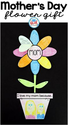 Show your mom love today with mother's day flower gift! easy kids craft for spring and mom! use in your lower elementary classrooms from kindergarten to Easy Mother's Day Crafts, Mothers Day Crafts For Kids, Mothers Day Cards, Easy Crafts For Kids, Mother Day Gifts, Art For Kids, Quick Crafts, Simple Crafts, Kids Diy