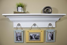 OMG- This is exactly what i was going to do with my leftover beadboard! Also have a brand new shelf like that in basement!