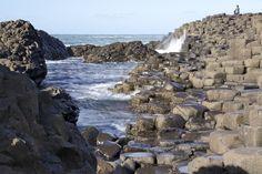 The Giant's Causeway and its 40 000 hexagonal columns of basalt.