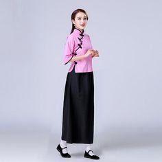 ac7842cce Cheongsam Top Full Length Skirt Chinese Suit 1930's School Uniform –  IDREAMMART
