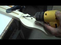 How To Drill A Truss Rod Access Hole In A Guitar Headstock - YouTube
