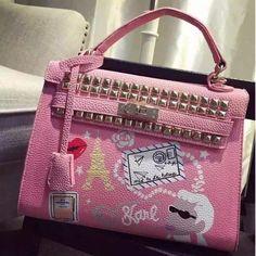Pink Galeries Lafayette Patten Special Handbag