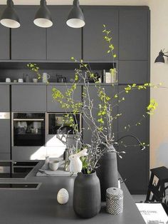 Interplay of light and dark: The most beautiful living ideas from March Luxury Kitchen Design, Best Kitchen Designs, Best Interior Design, Interior Design Living Room, Ikea Inspiration, Exterior Design, Interior And Exterior, Ideas Hogar, Diy Bottle