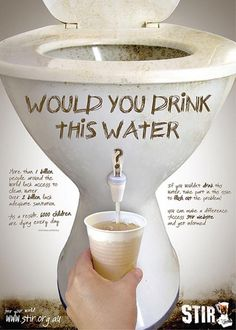 6000 children die every day from diseases related to unclean water.