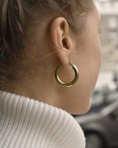 Helen de Lete Thunder Storm Tornado Sterling Silver Stud Earrings