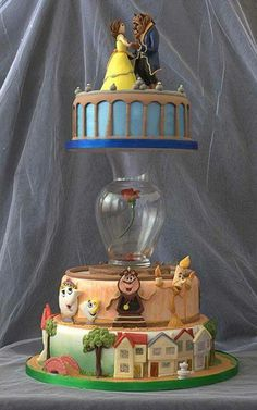 best cake i've ever seen. I absolutely love cake decorating and Beauty and the Beast! I am in LOVe with this cake! Pretty Cakes, Cute Cakes, Beautiful Cakes, Amazing Cakes, Beautiful Gorgeous, Cake Cookies, Cupcake Cakes, Cake Boss Cakes, Beauty And The Beast Wedding Cake