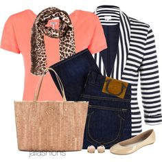 """""""Cork Tote"""" by jafashions on Polyvore"""