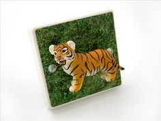 The Cutest Tiger Cub Light Switch! Handmade in the UK by Candy Queen