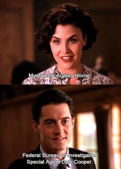 Audrey Horne and Agent Cooper