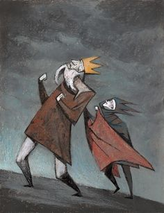 King Lear by Maria Surducan. This really depicts the sinister and yet silly madness of the play.
