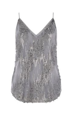 Oasis, PRETTY SEQUIN CAMI Pale Grey