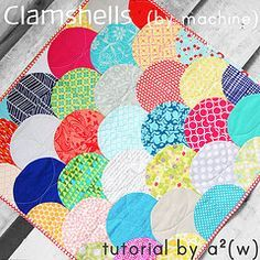 """Quilting shortcuts anyone? machine-pieced Clamshell Quilt tutorial by """"a.squared.w"""""""