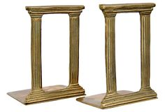 Brass Architectural Column Bookends on OneKingsLane.com https://www.onekingslane.com/shop/debra-hall-lifestyle