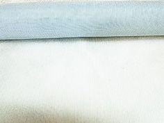 Light Aqua Blue Stripes Sheer Small 19 in Width Fabric   2 yard