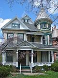 Peter Bissman House in Mansfield, OH. Over 190 Different Victorian Homes… … Victorian Architecture, Architecture Design, Beautiful Buildings, Beautiful Homes, Victorian Style Homes, Victorian Houses, Victorian Decor, Porche, My Dream Home