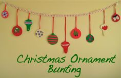 I've wanted to make an advent calendar for many years and have seen some amazing inspiration out there…So instead, I came up with this ornament bunting… Christmas Bunting, Felt Christmas Decorations, Felt Christmas Ornaments, Christmas Sewing, Christmas Love, Christmas Holidays, Christmas Ideas, Winter Holidays, Tree Decorations