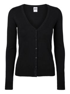 SLIM FIT SHORT CARDIGAN, BLACK, my fave of all time