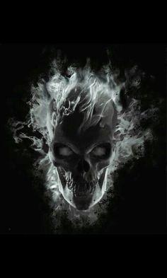 240 x 320 , ghost-skull-wallpaper Dark Fantasy, Fantasy Art, Totenkopf Tattoos, Skull Pictures, Gif Pictures, Skull Artwork, Skull Wallpaper, Hd Wallpaper, Blue Flames