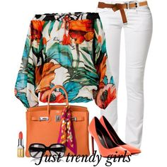 floral blouse outfit  Smart casual wear for summer http://www.justtrendygirls.com/smart-casual-wear-for-summer/