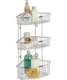 Website Picture Gallery Check and reserve HOME Tier Wall Mounted Chrome Shower Caddy at Argos