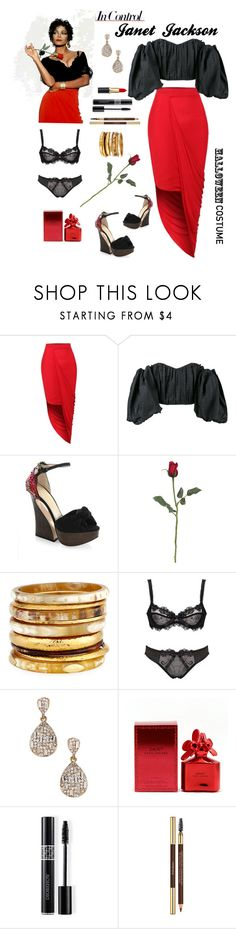 """Ms. Jackson"" by rnett51 ❤ liked on Polyvore featuring LE3NO, E L L E R Y, Charlotte Olympia, Ashley Pittman, Amrita Singh, Marc Jacobs, Christian Dior and Yves Saint Laurent"