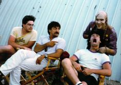Tom Savini and Bill Moseley Tom Savini and Bill Moseley hanging out with the crew on set of The Texas Chainsaw Massacre All Horror Movies, Horror Films, Bill Moseley, Tom Savini, Photography Movies, Horror Artwork, Texas Chainsaw Massacre, Slasher Movies, Horror Icons