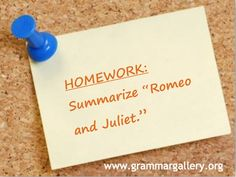 "A free PowerPoint presentation on ""Summarizing a Plot"" from Grammar Gallery! http://www.grammargallery.org/monthlylessons.html"