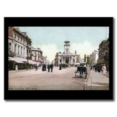 Old Postcard, South Street, Worthing, in 1909
