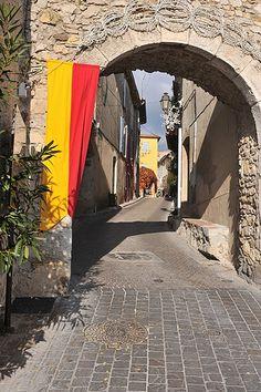 Village Entrance, Le Castellet, Provence Beautiful medieval village on a hilltop with a fabulous view